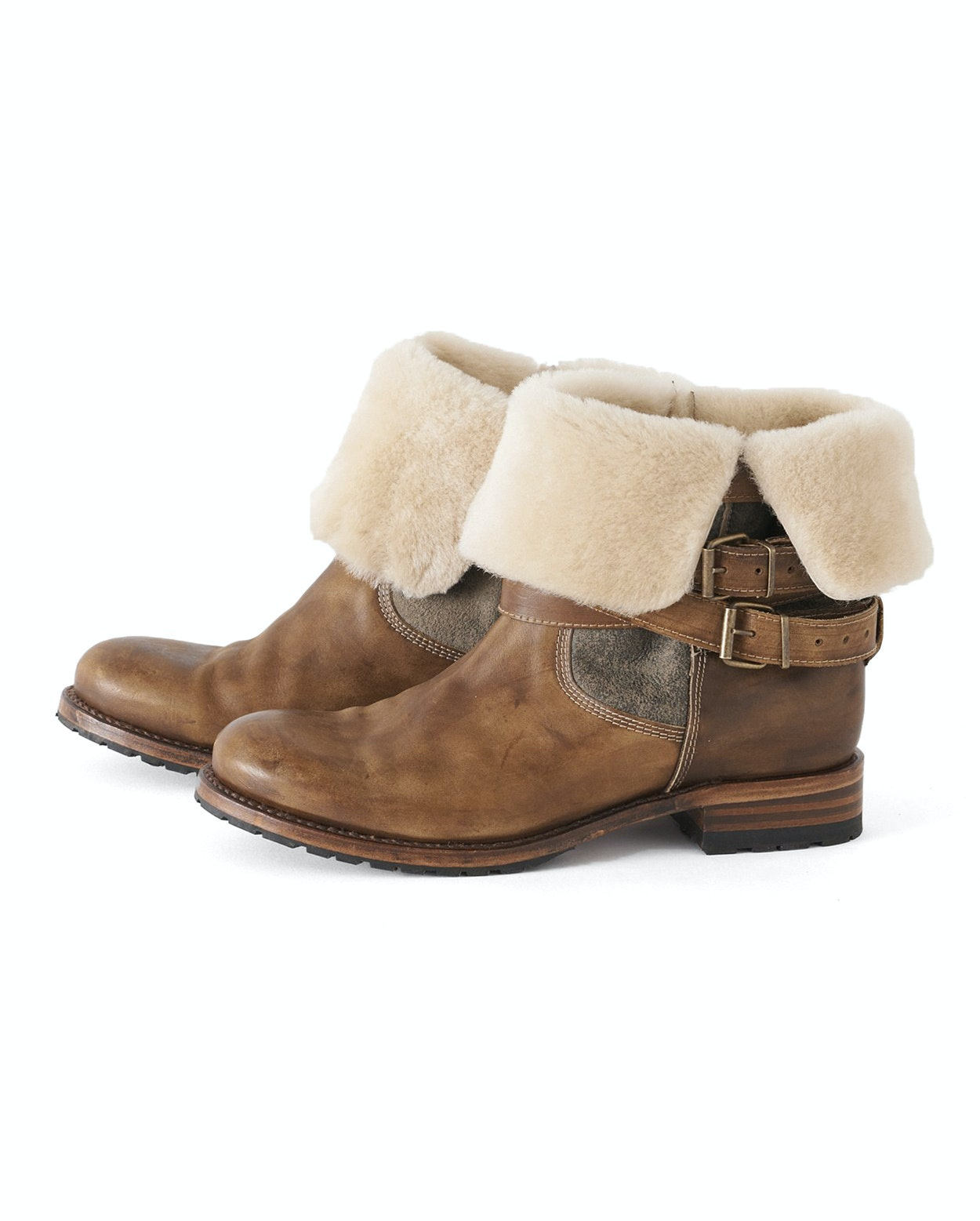 674301f1d65 Poetry - Shearling lined leather ankle boots