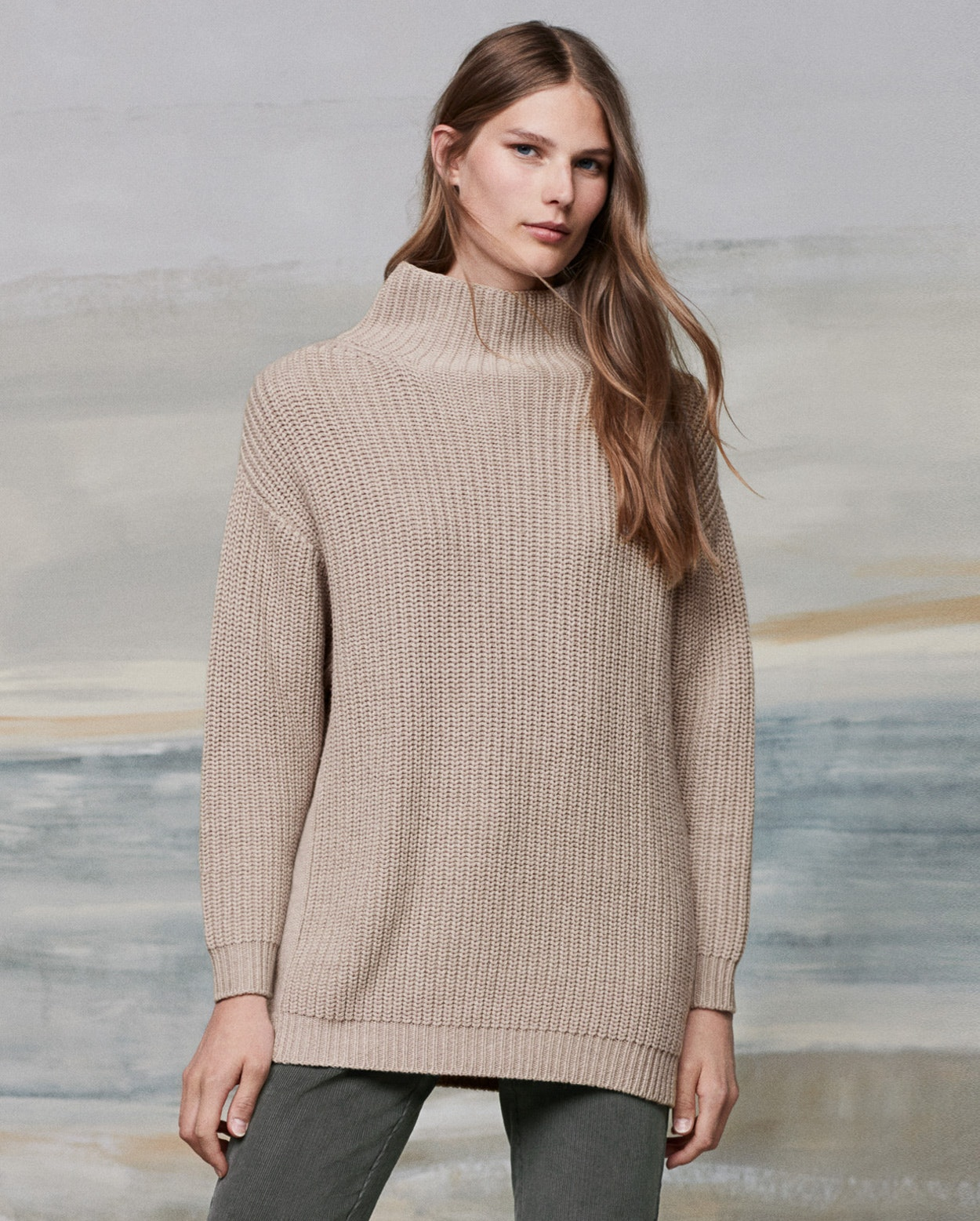 Poetry - Oversized cotton and wool sweater