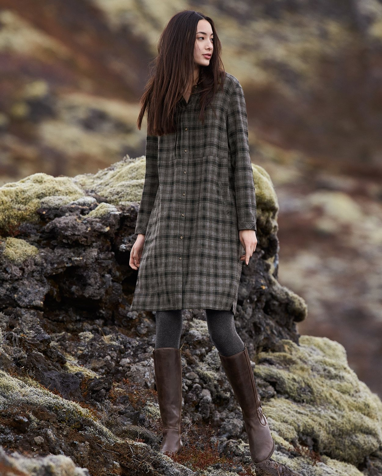 4b636c7e24c7a Poetry - Checked wool dress