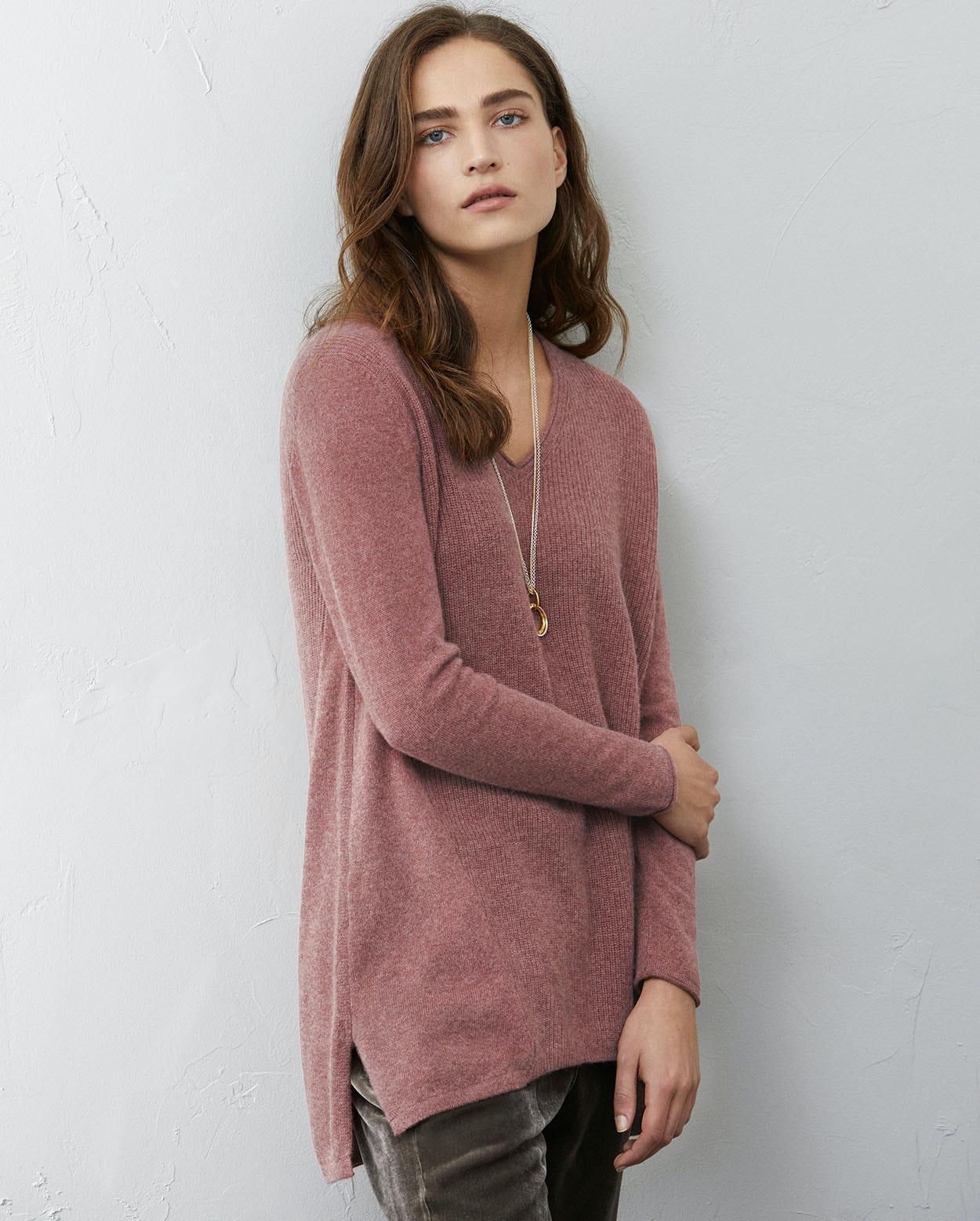 29b2ea1e3d2 Poetry - V-neck cashmere sweater
