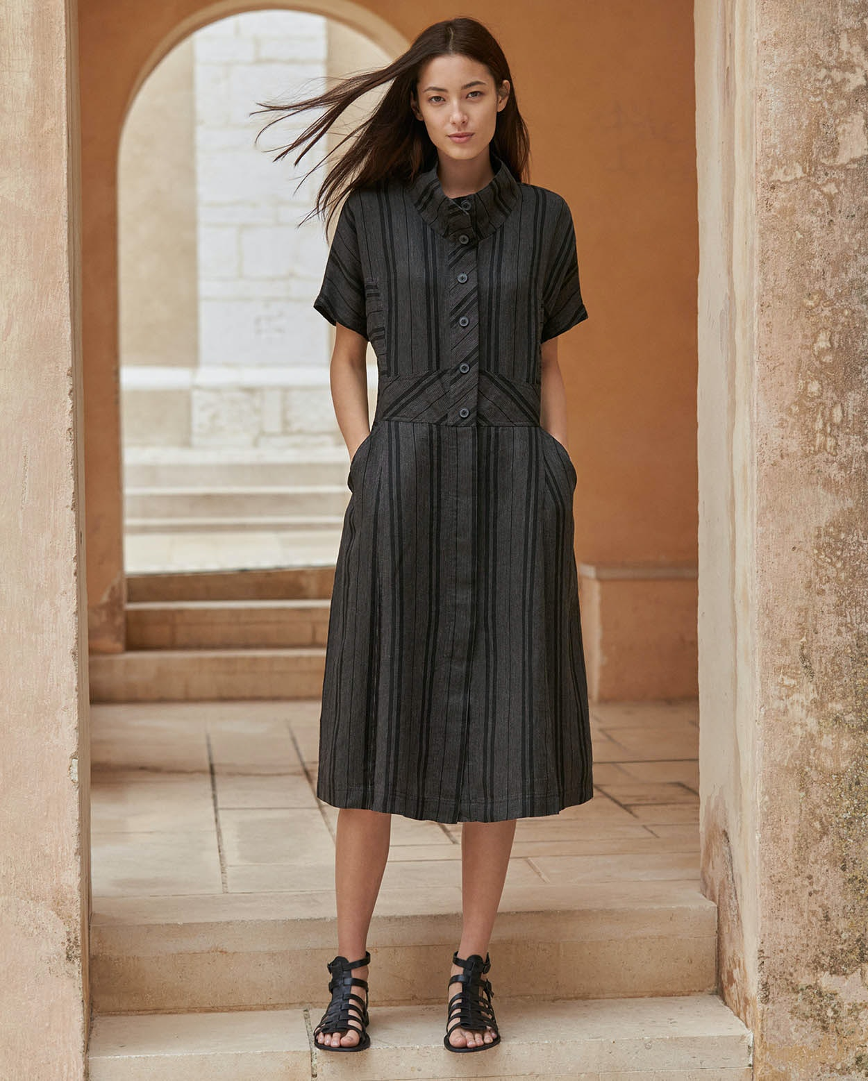 88b9bcaf3d1 Poetry - Striped linen dress