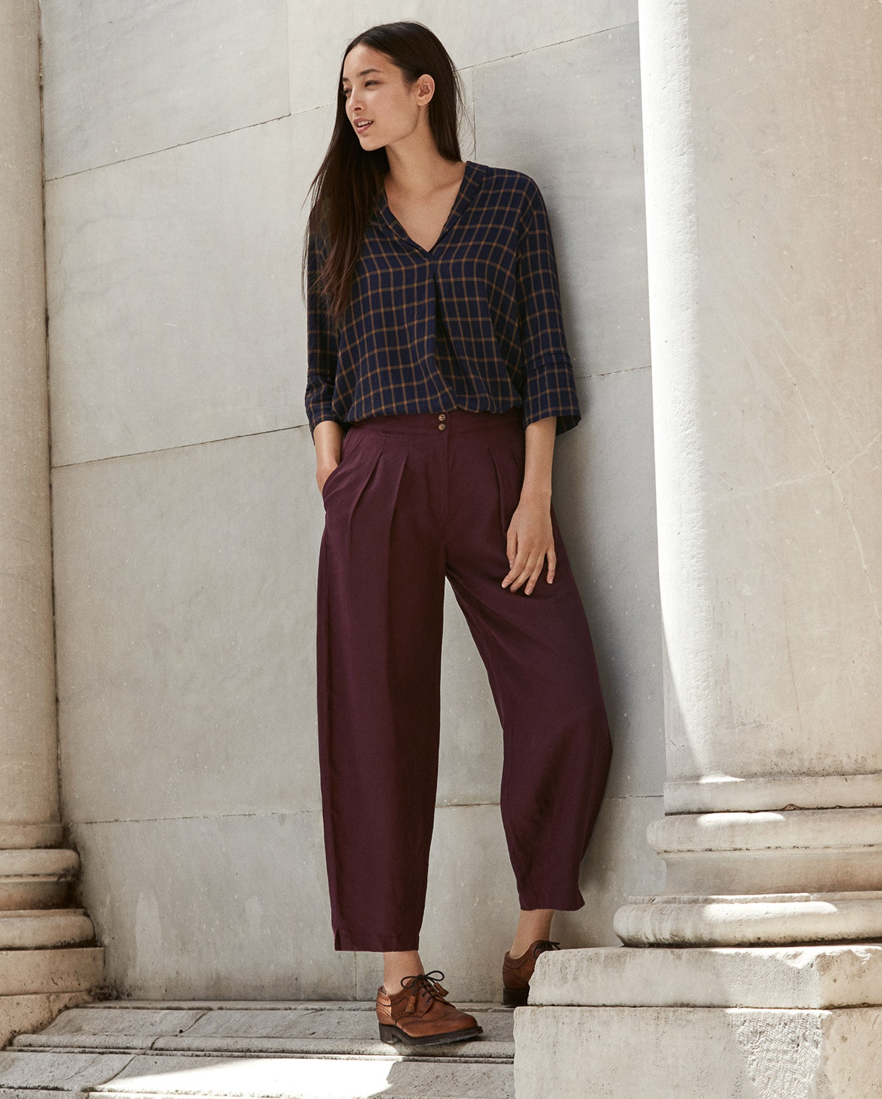 a1bfed1c08ba7b ... Product Image of Tapered silk linen trousers ...