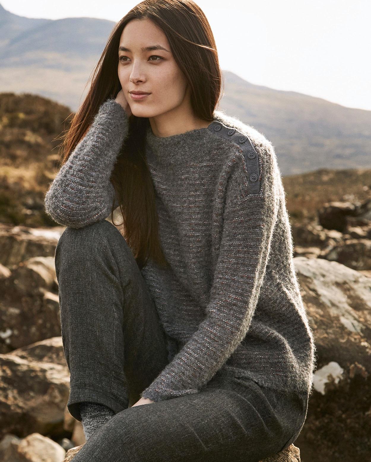5f88a5c7f Image of Bouclé striped sweater