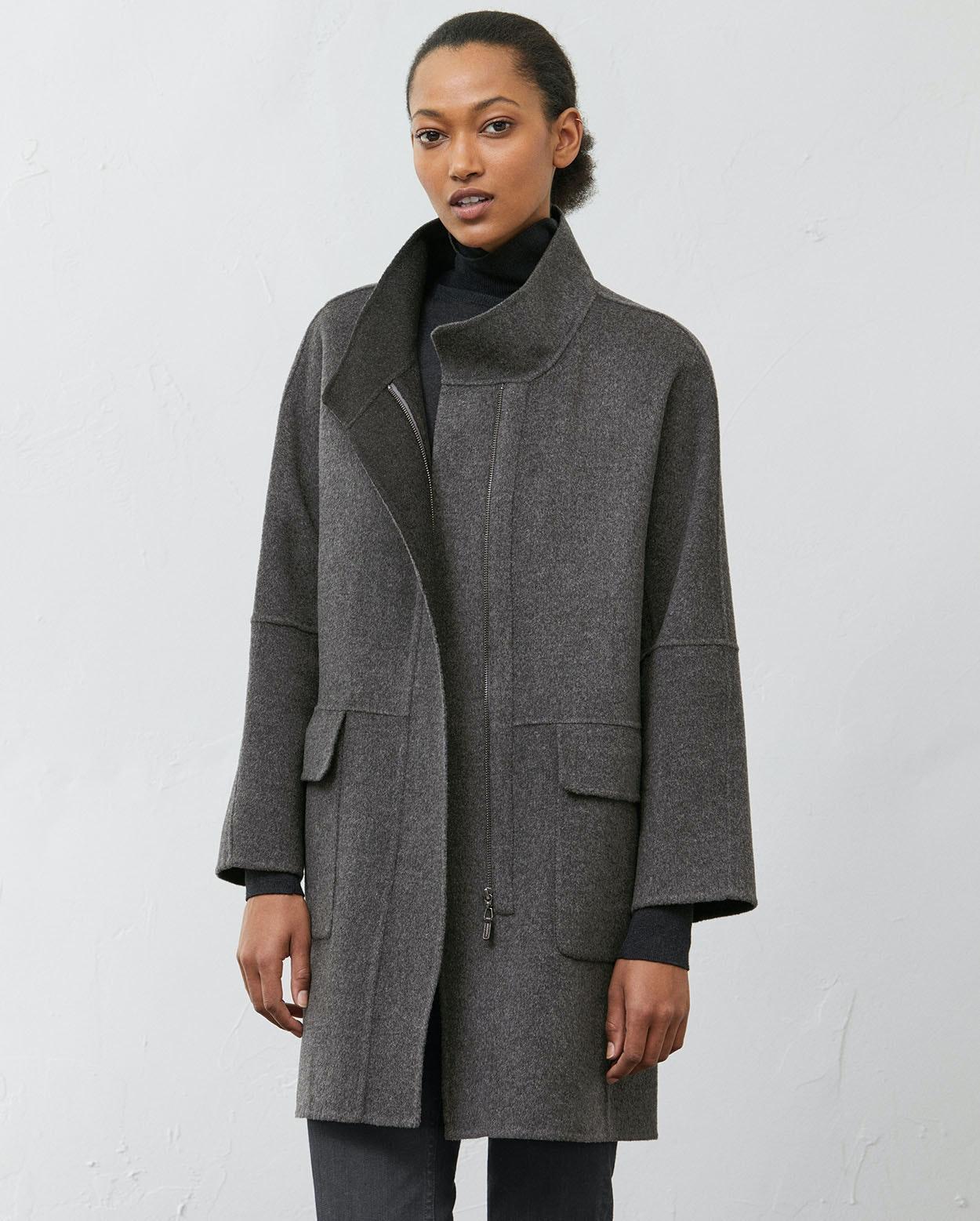 35583c16b61 Poetry - Double face wool coat