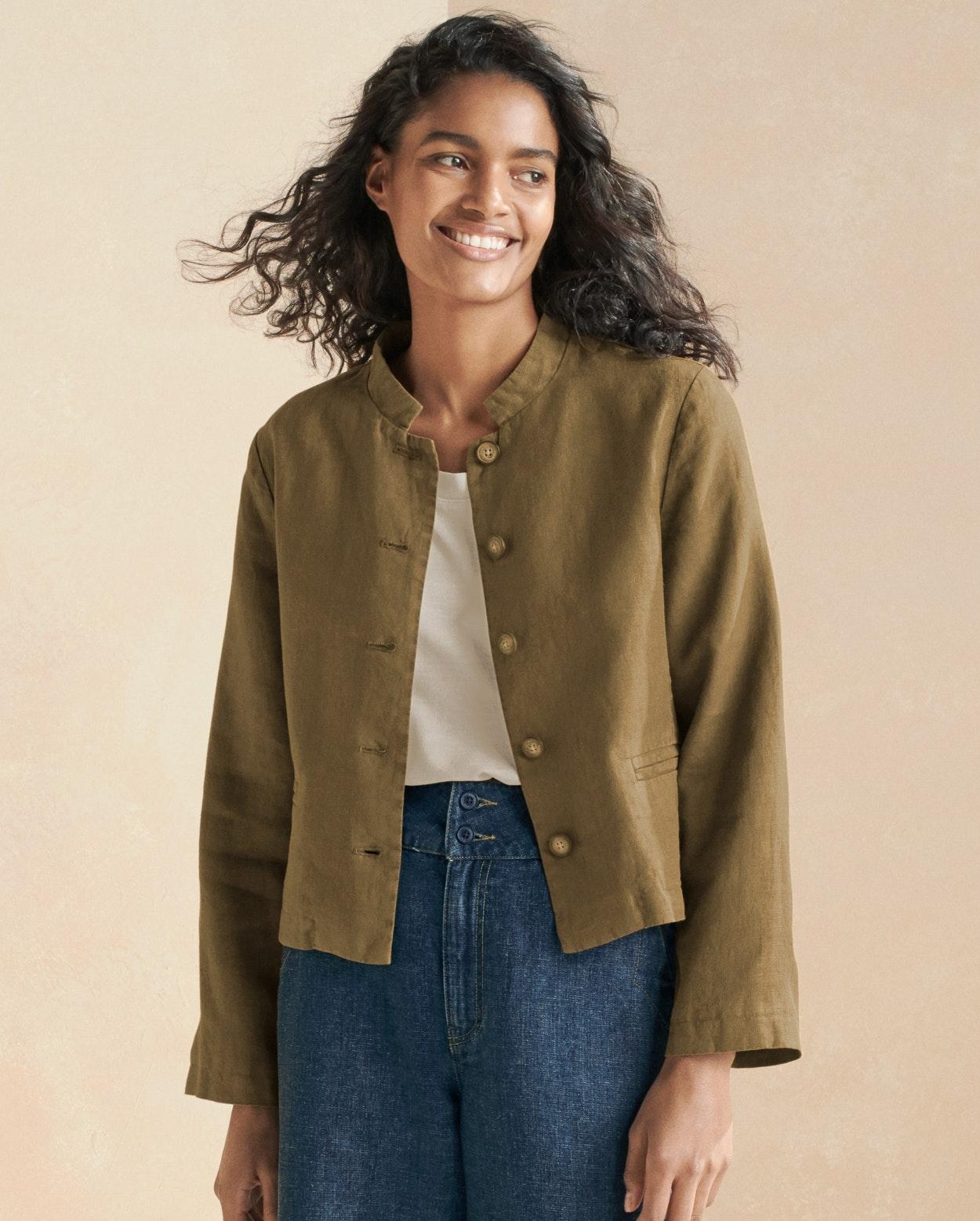 492296381357 ... Product Image of Short linen jacket ...