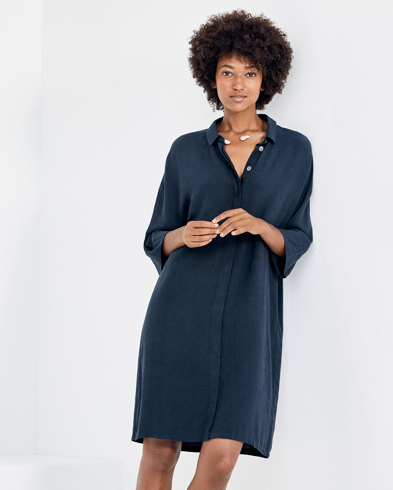 Poetry Tencel And Linen Shirt Dress