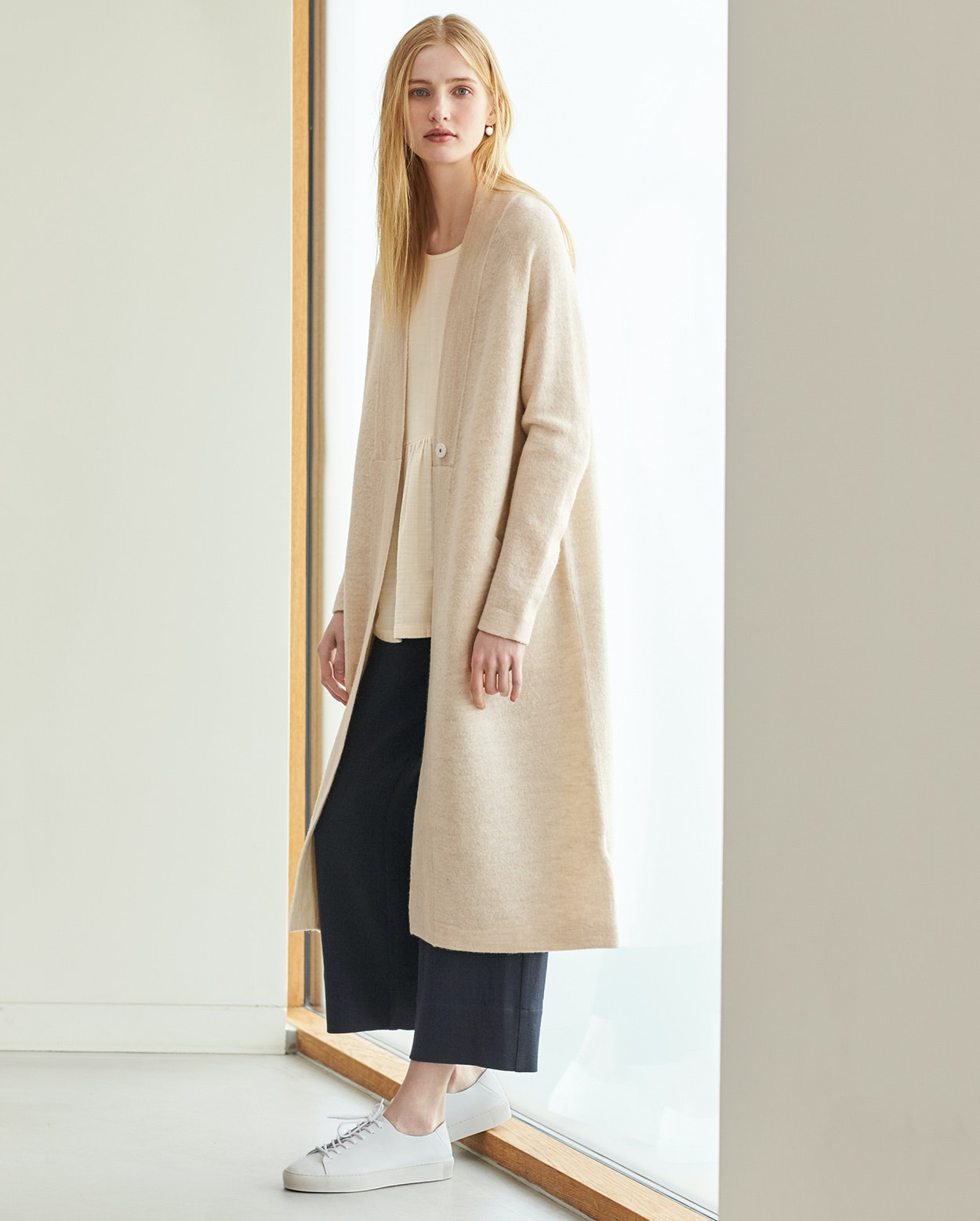 1cbc05107 Poetry - Long boiled wool coat