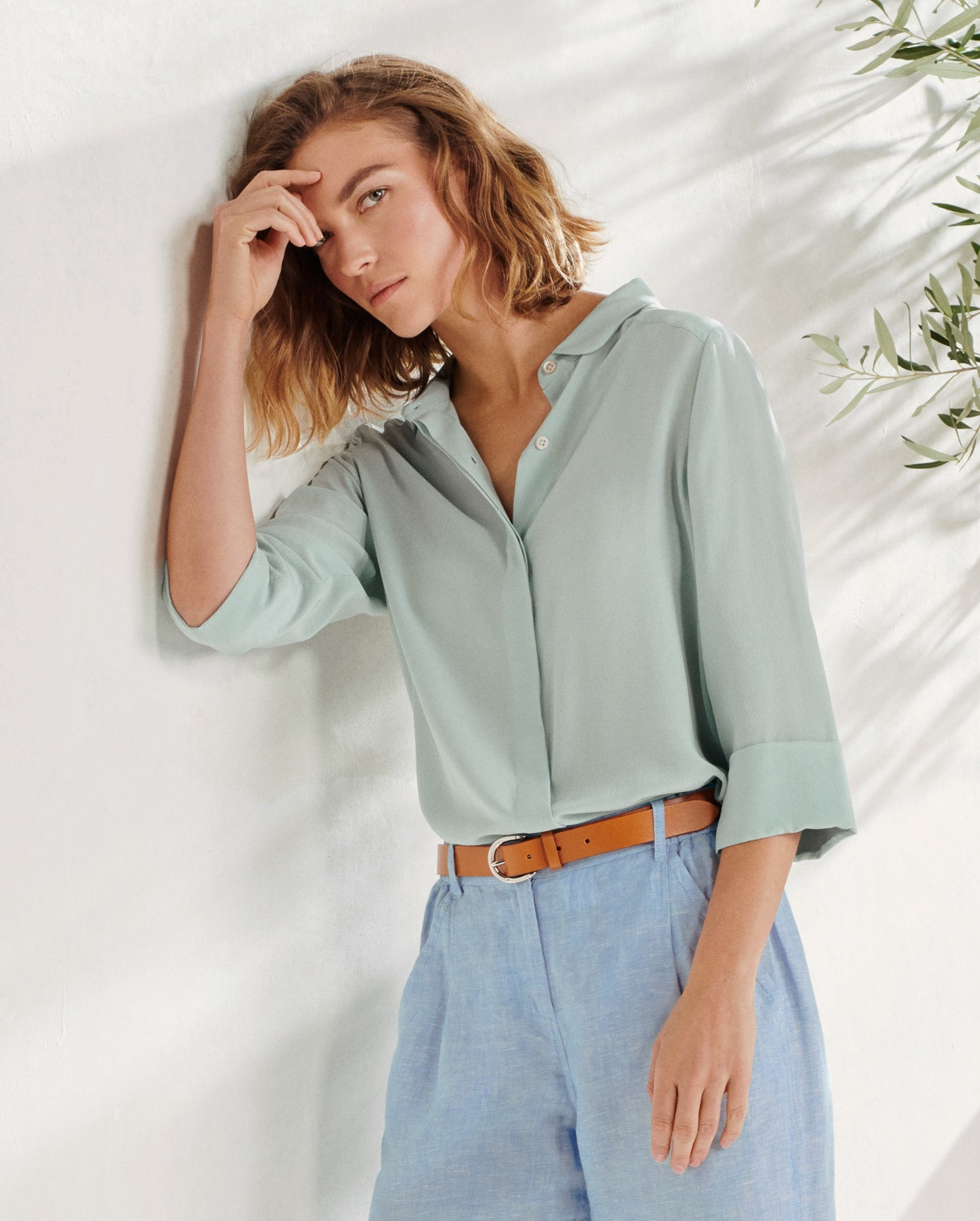 cb12c320281aa Poetry - Rounded-collar silk shirt
