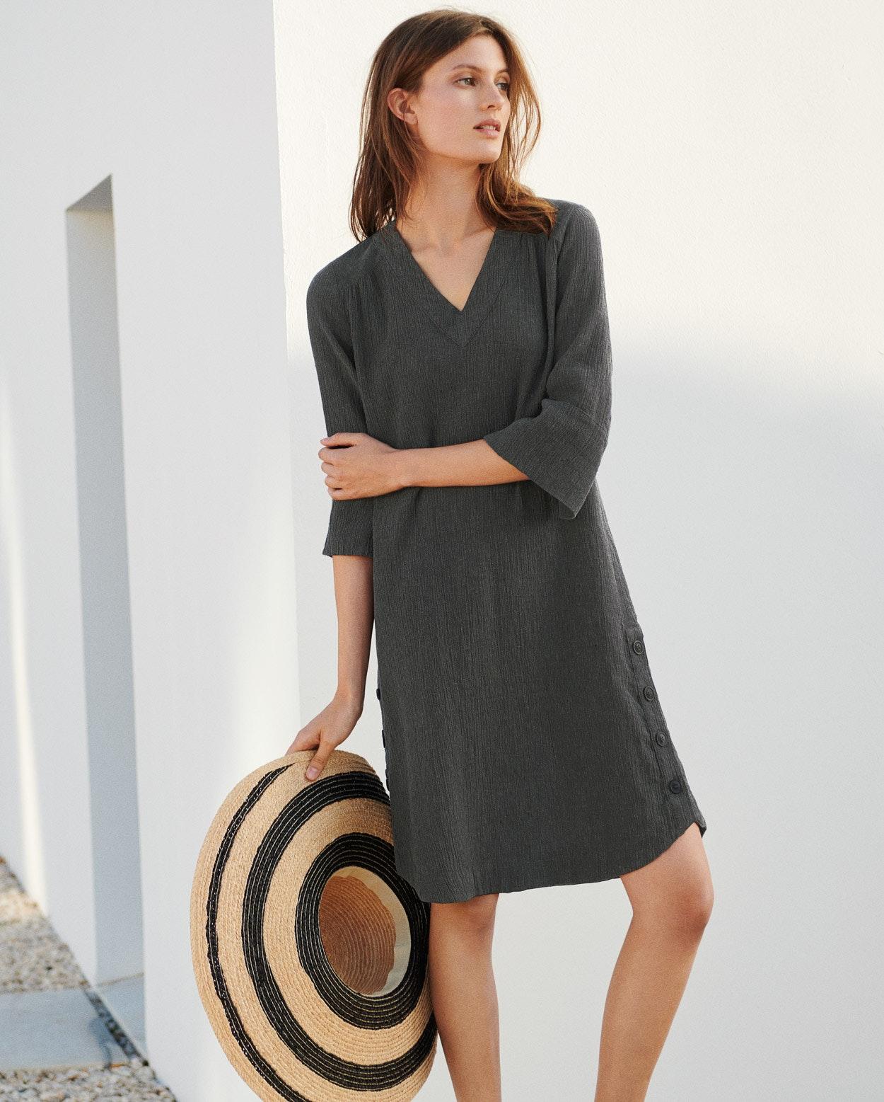 2f7caafe58 ... Product Image of V-neck crinkle linen dress ...