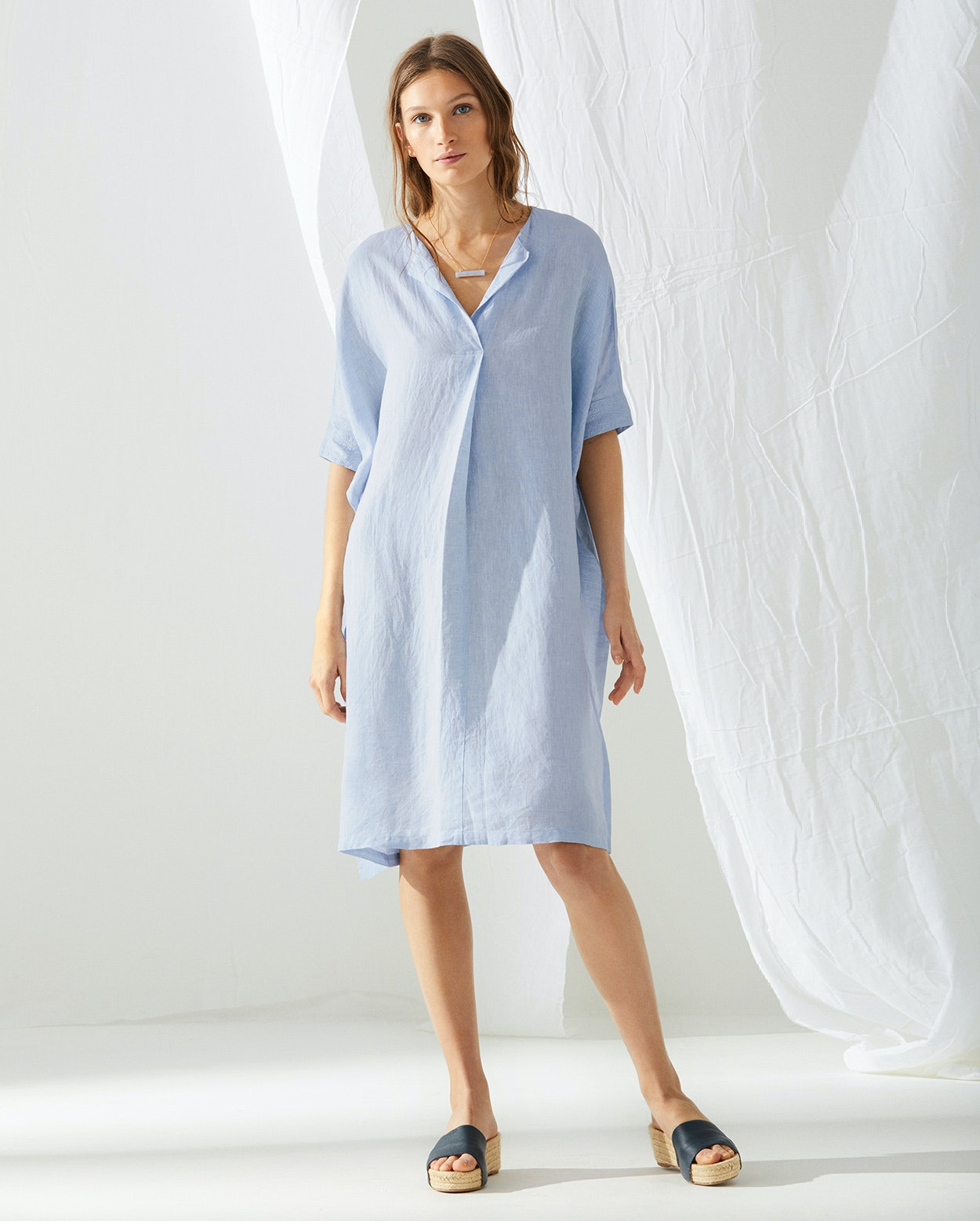 Poetry - Kaftan-Kleid aus Leinen
