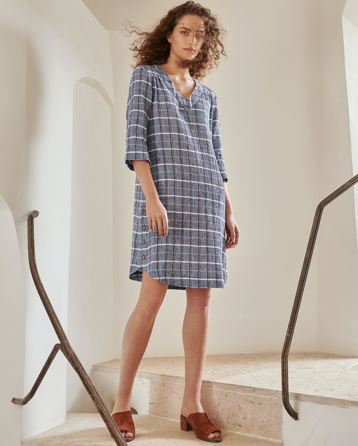 646cc18095 Poetry - Crinkled linen cotton dress