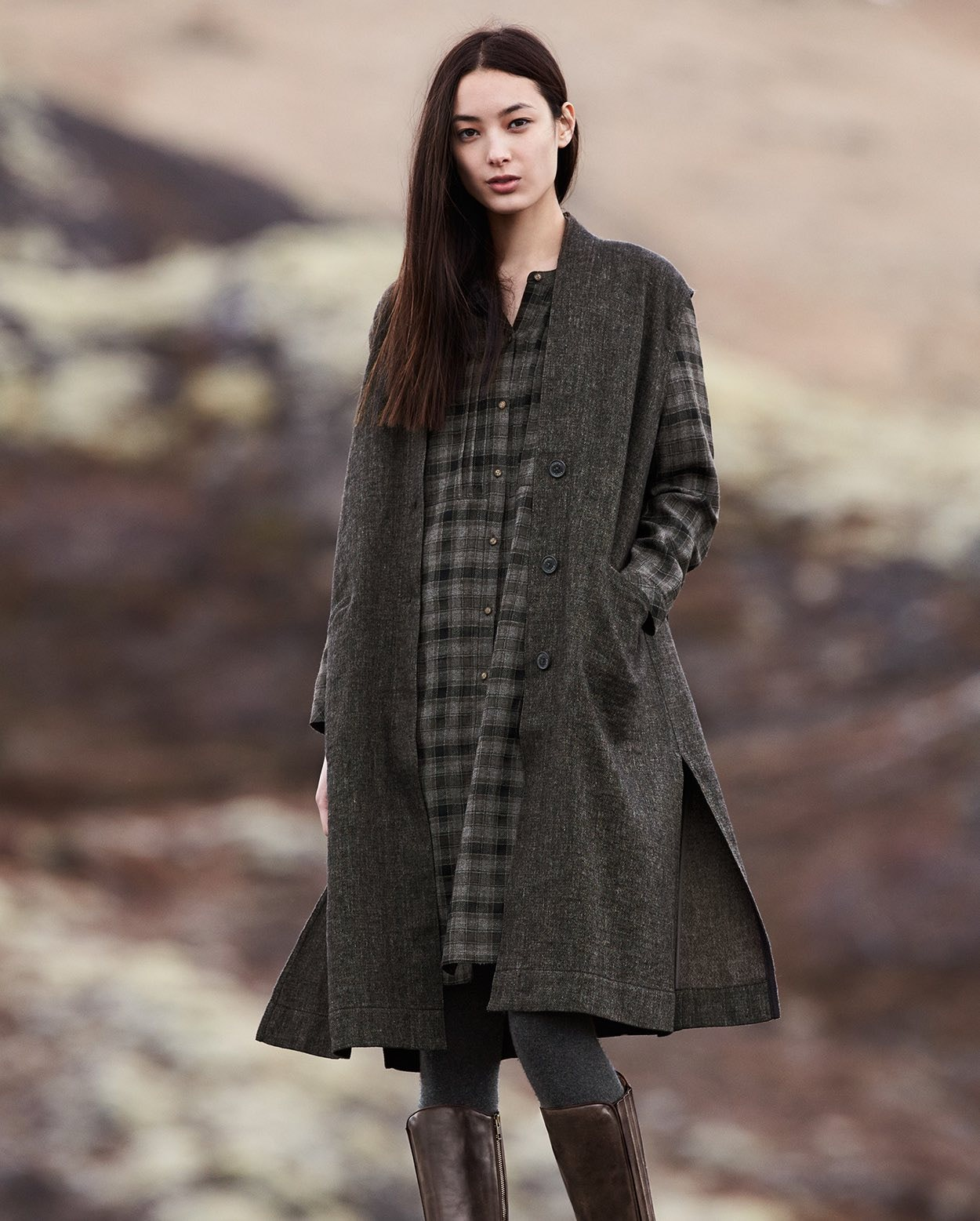 d5069d611813a Poetry - Linen wool sleeveless coat