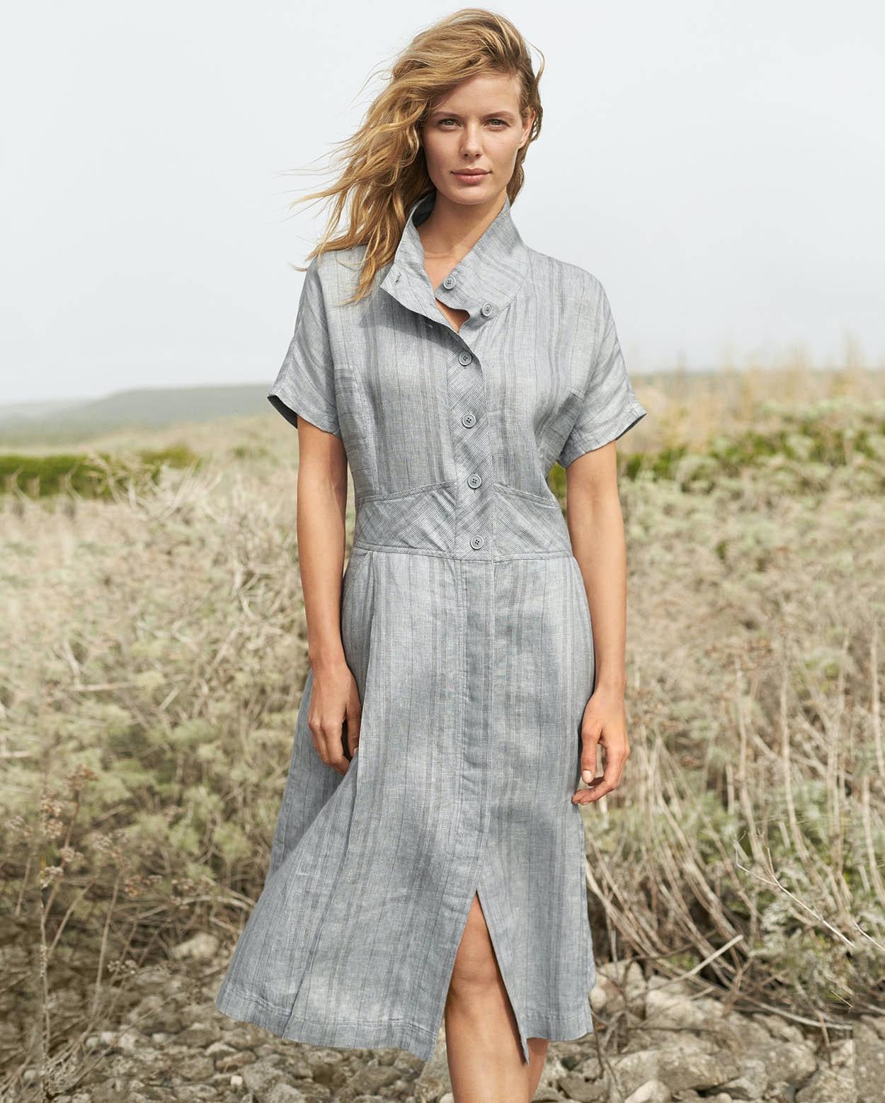 fd3f355f8 Image of Striped linen dress