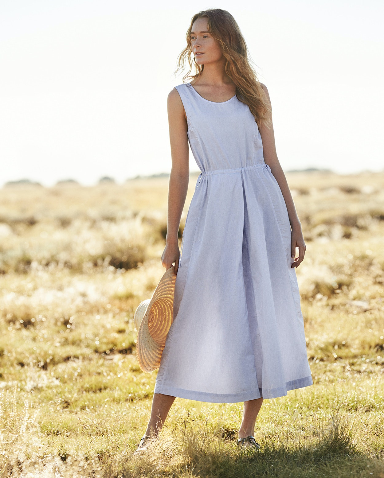 Poetry - Stripe cotton dress