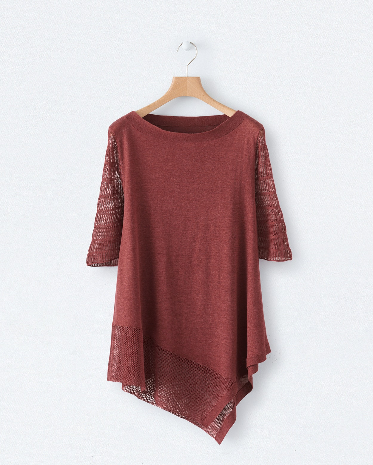 92b4eaf381 ... Product Image of Dipped hem linen sweater ...