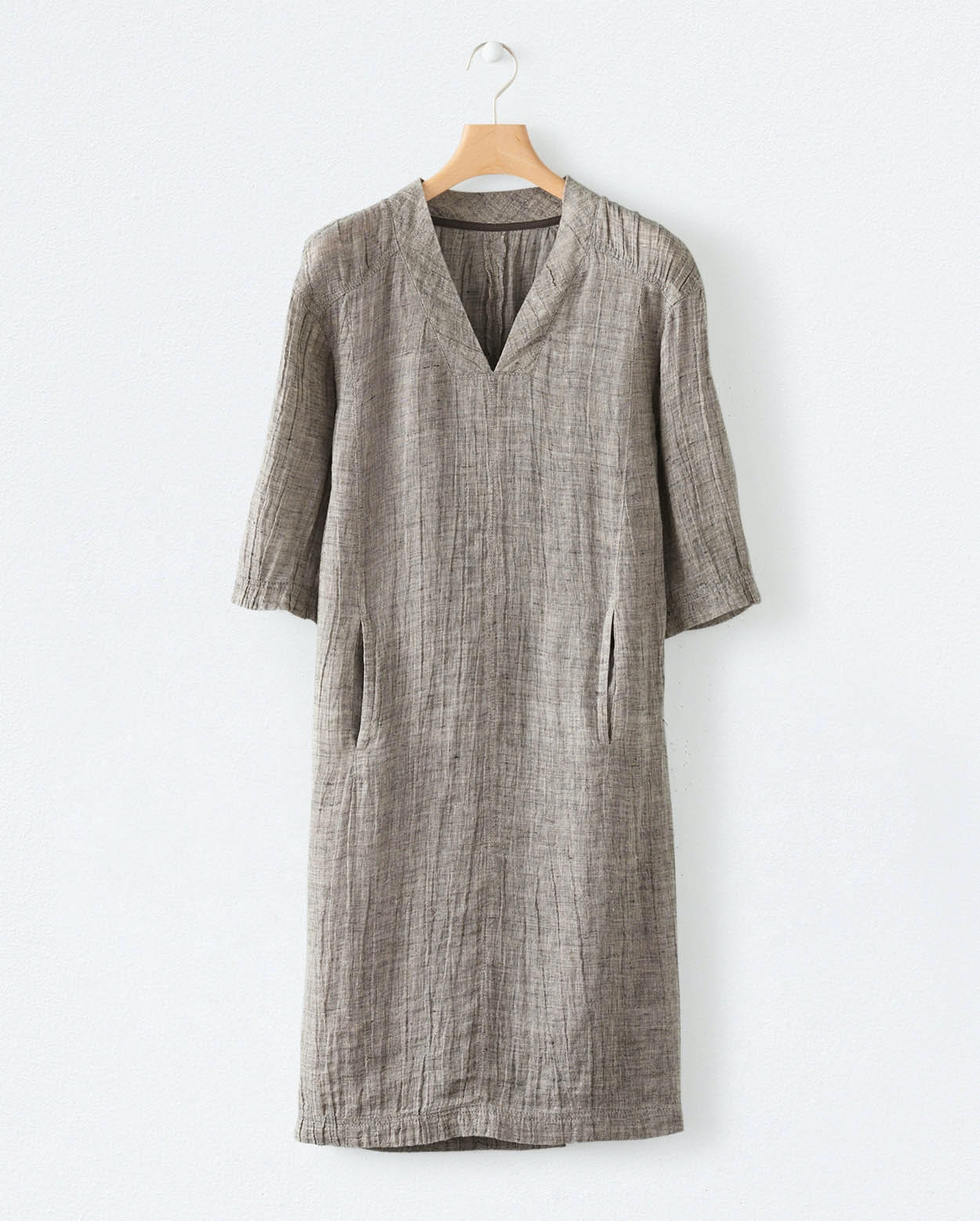 1676a97960 Poetry - Crinkle linen v-neck dress