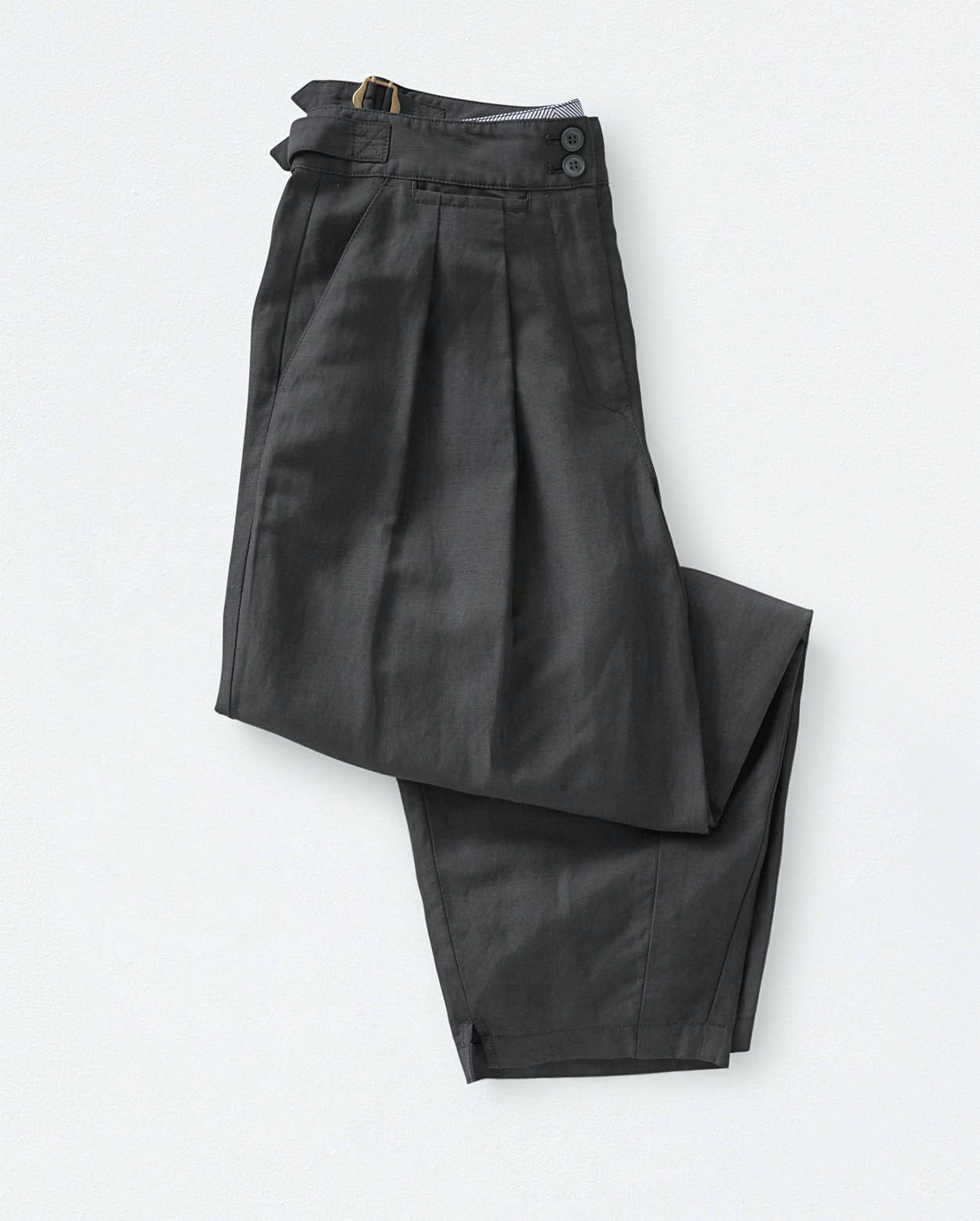 b18e7c4c Image of Tapered silk linen trousers
