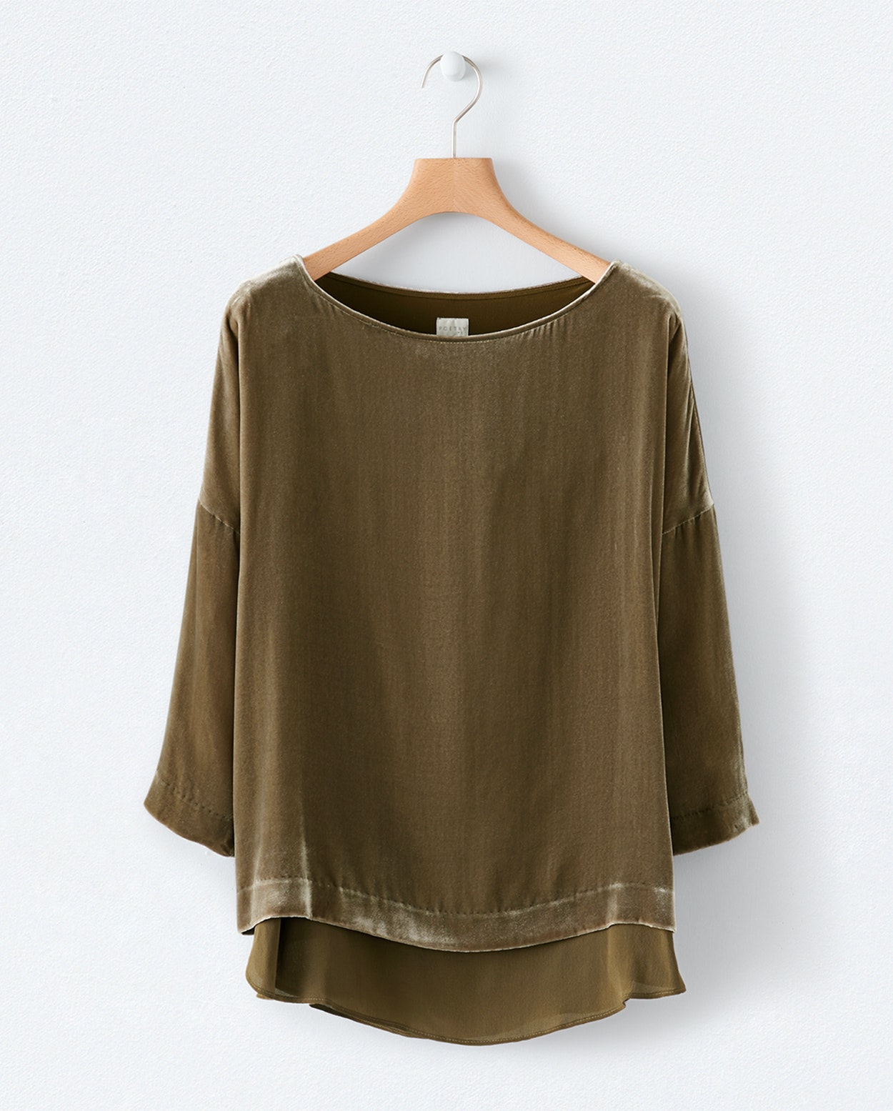 Poetry - Double-layer silk and velvet top