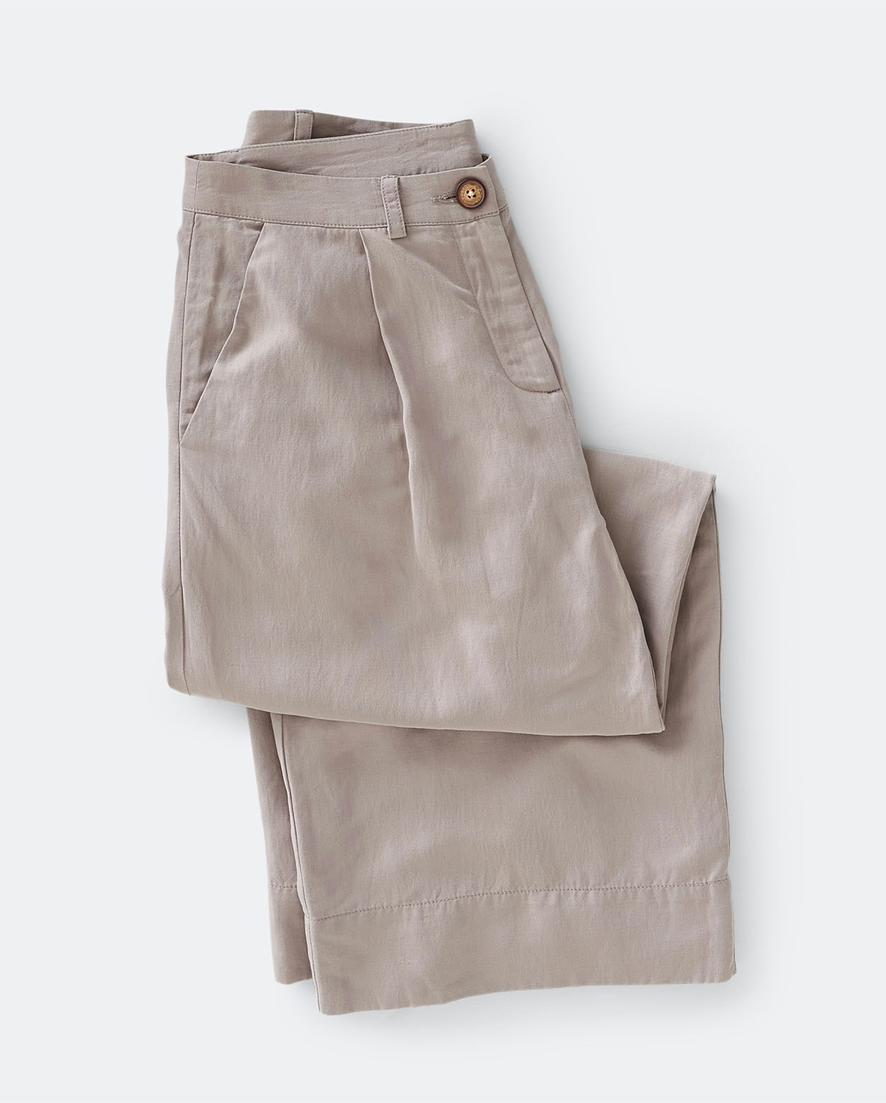 f1bfb12994698c Image of Cropped silk linen trousers