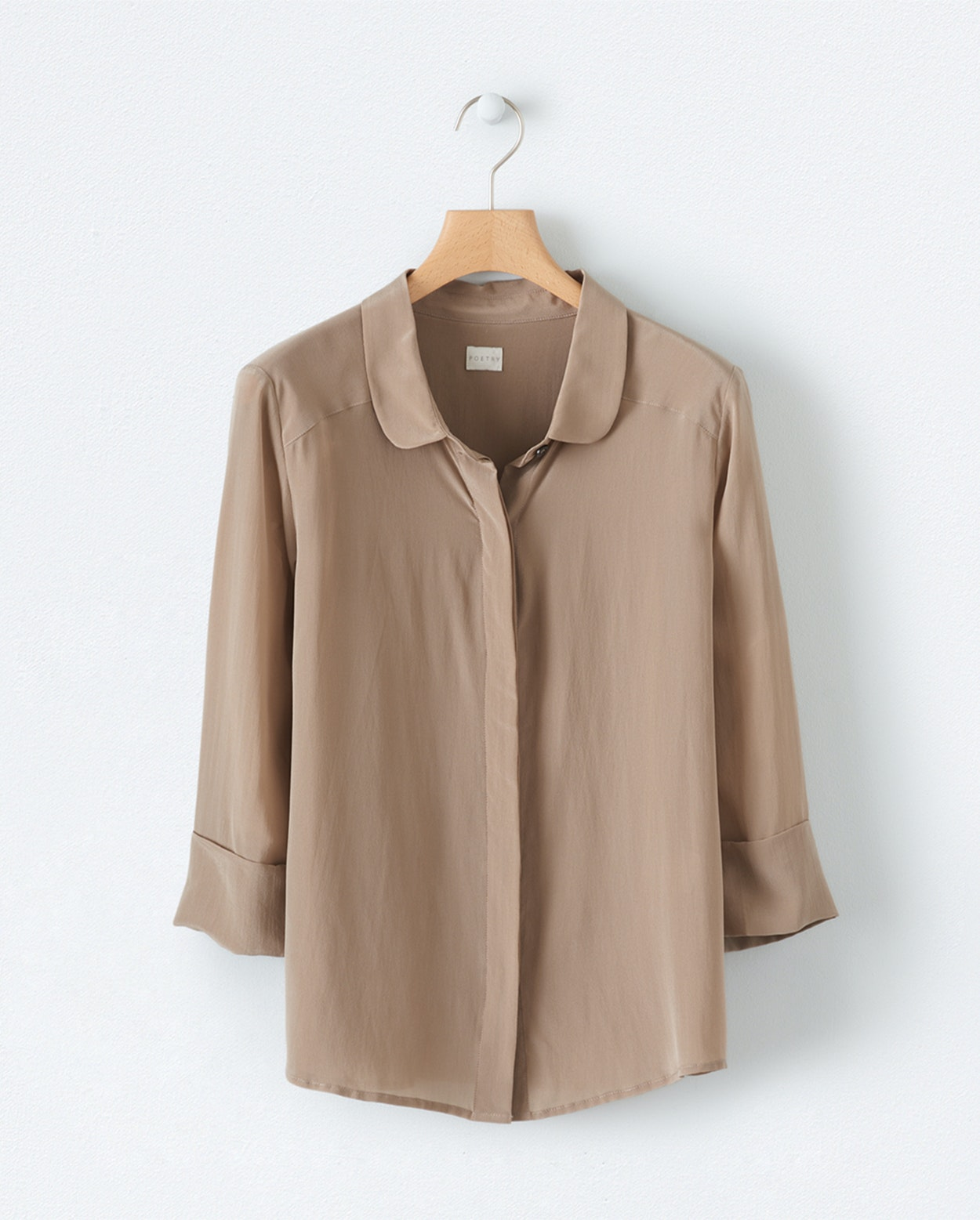d9f27bea726 Product Image of Rounded-collar silk shirt ...