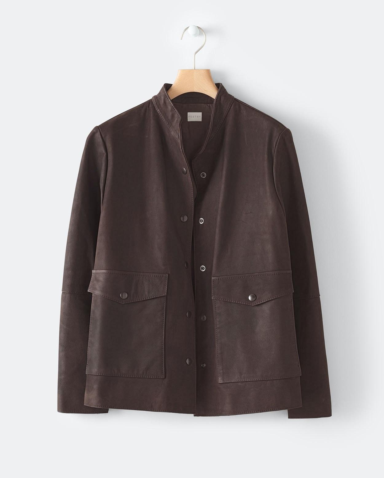 d2dcb69065b Poetry - Nubuck leather jacket