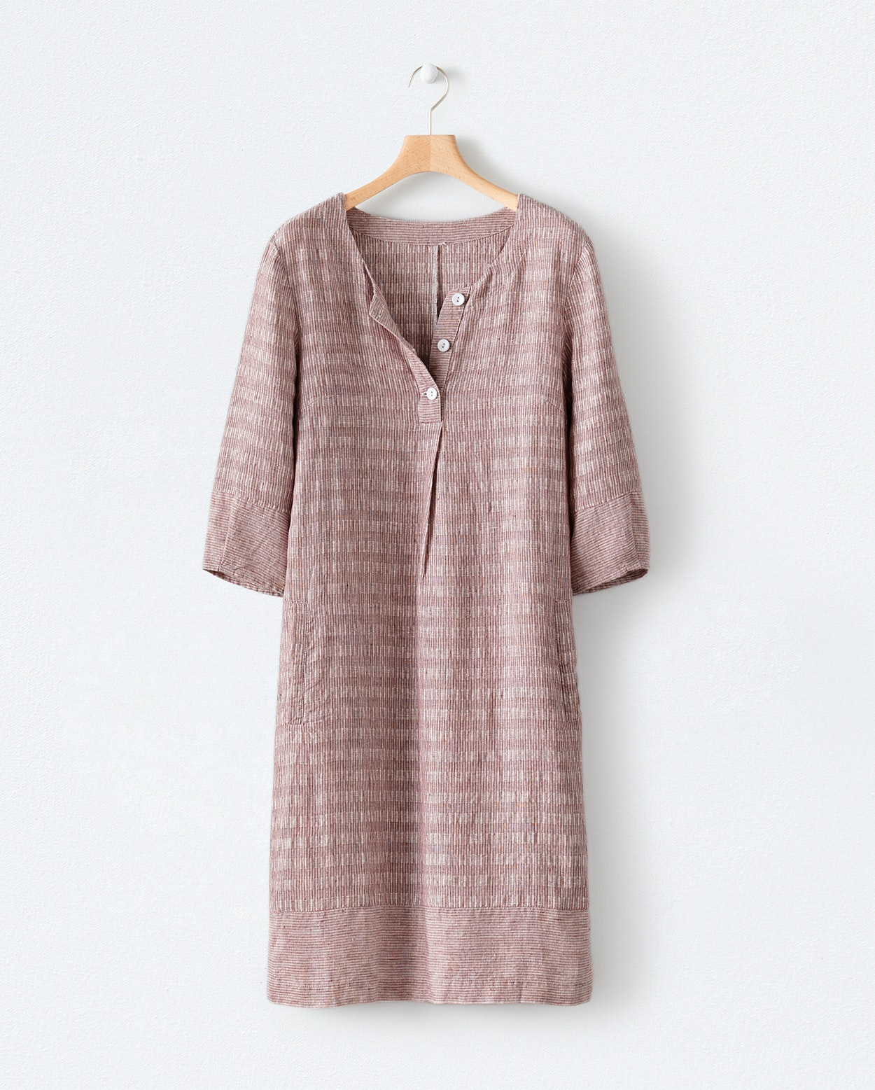 c685509975 Product Image of Check and stripe linen dress ...